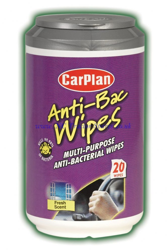 CarPlan Mini Tub Wipes Anti Bacterial 20